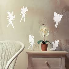 fairy vinyl wall sticker set by oakdene designs fairy vinyl wall sticker set