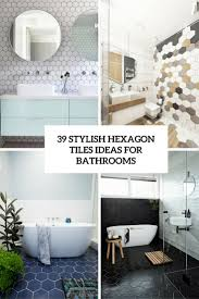 Ideas For Bathroom Tiles Colors 39 Stylish Hexagon Tiles Ideas For Bathrooms Digsdigs