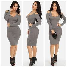 clubbing clothes grey sleeve bodycon dresses v neck clubbing dress