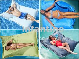 2017 xxl large blue outdoor float bean bag pool side waterproof