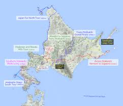 Shortest Route Map by Hokkaido Cycle Touring Routes 14degrees Off The Beaten Track