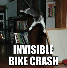 Invisible Cat Meme - cat invisible bike crash very funny meme picture