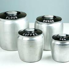 vintage canisters for kitchen flour and sugar canisters vintage kitchen canisters 4 set