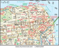 san francisco map detailed san francisco stock images royalty free images vectors