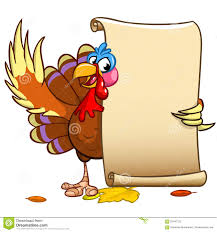 vector happy thanksgiving turkey with blank scroll stock vector