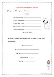 simile u0026 metaphor poems worksheet free esl printable worksheets