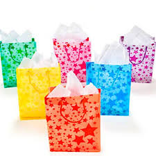 gift bags frosted gift bags 1 dz color assorted colors