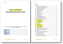 Disaster Recovery Plans Template disaster recovery plan template the continuity advisor