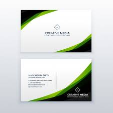 business card green and black business card template vector free