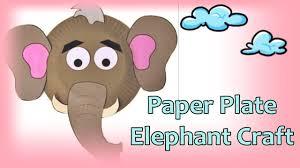 paper plate elephant craft how to make paper elephant tutorial