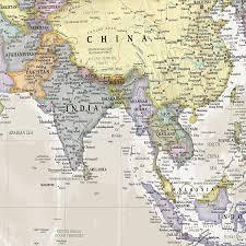 Map International Amazon Com Giant World Classic Megamap Laminated Encapsulated
