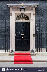 Front Door Red by The Front Door Of 10 Downing Street With The Red Carpet Laid Out