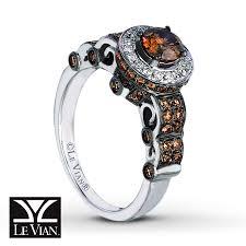 kay jewelers diamond engagement rings kay levian chocolate diamonds 1 1 5 ct tw ring 14k vanilla gold