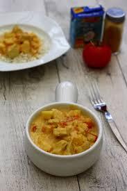 en cuisine avec coco curry de poulet au lait de coco et pomme amandine cooking