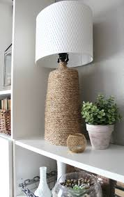 how to make a rustic wrapped lamp base an inspired nest