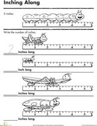 measuring inches inching insects measurement worksheets