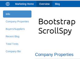 membuat website bootstrap cara membuat scrollspy dengan menggunakan bootstrap