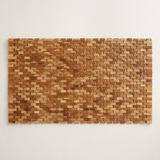 pleasant wooden bathroom mat for your home decorating ideas with