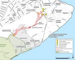 Hawaii Island Map Lava Update U2013 Tuesday Mar 3