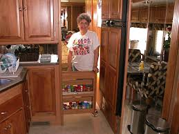Rv Kitchen Cabinets Rv Storage Ideas What Do You Stock In Your Rv Pantry For The