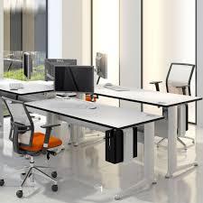 Adjustable Height Workstation Desk by Kassini Height Adjustable Desks Office Desks