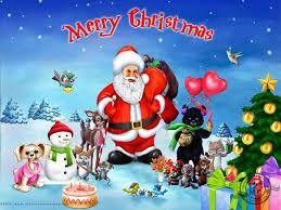 christmas card from santa claus christmas lights decoration