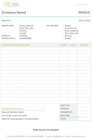 Consultancy Invoice Template Invoice Template With Hours And Rate Dotxes