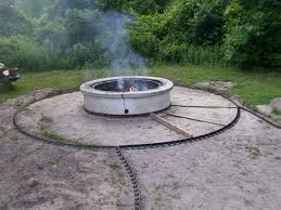 Large Firepit Pit Landscaping By Outdoor Designs Brick Design Ideas