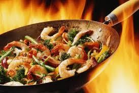 recette santé en moins de 15 min le wok de fruits de mer aux légumes