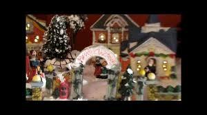Christmas Village Sets My Cobblestone Corners Christmas Village Youtube