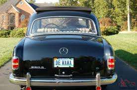 mercedes benz 220s completely restored with webasco cloth roof