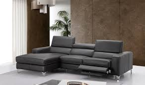 Ariana Bedroom Set Contemporary Modern Design Ariana Premium Leather Sectional Sofa In Dark Grey Free Shipping