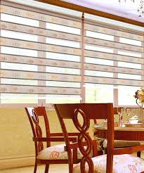 Dual Day And Night Roller Blinds Window Blinds Zebra Window Blinds Motorized Day Night Roller