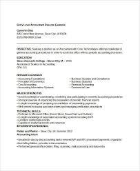 Accountant Resume Template Word Printable Accountant Resume Templates 28 Free Word Pdf