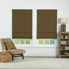 radiance cocoa havana bamboo roman shade 35 in w x 72 in l