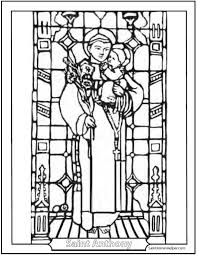 21 stained glass coloring pages u0026 church windows