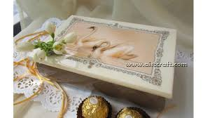 wedding gift boxes decoupage on wood tutorial diy wedding gift idea