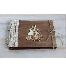wedding guestbook rustic guest book vow book wood custom wedding