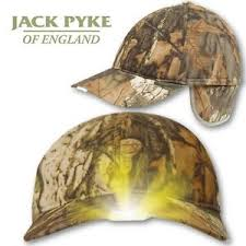 hats with lights built in jack pyke camo wildfowlers cap x5 built in led lights fleece lined