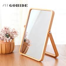 online get cheap wood cosmetic mirror aliexpress com alibaba group