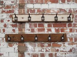 Woods Vintage Home Interiors Row Of Five Factory Hooks Woods Interiors And Coat Hooks