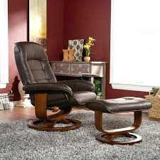 Chair With Matching Ottoman Leather Recliner With Ottoman Java Bonded Leather Swivel Recliner