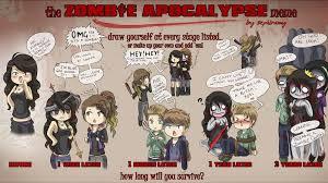 Zombie Apocalypse Meme - zombie apocalypse meme by lapin670 on deviantart