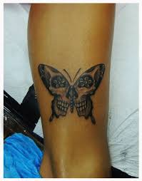 collection of 25 realism butterfly skull and leg tattoos