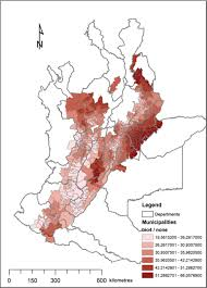 Map Of Colombia Spatial Modeling Of Cutaneous Leishmaniasis In The Andean Region