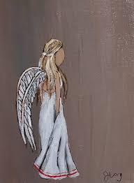 Angel Home Decor Angel Art Print Faceless Spiritual Art Wall Art Wall Decor