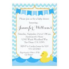 duck baby shower invitations duck baby shower invitation rubber duck invite zazzle