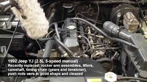 jeep 2 5 engine jeep yj engine knock fix 2 5l 4 cylinder manual transmission