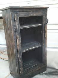 Wood Storage Cabinet Hand Made Black Distressed Wood Jelly Storage Cabinet By