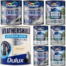 Exterior Metal Paint - dulux weathershield satin quick dry 750ml exterior wood u0026 metal